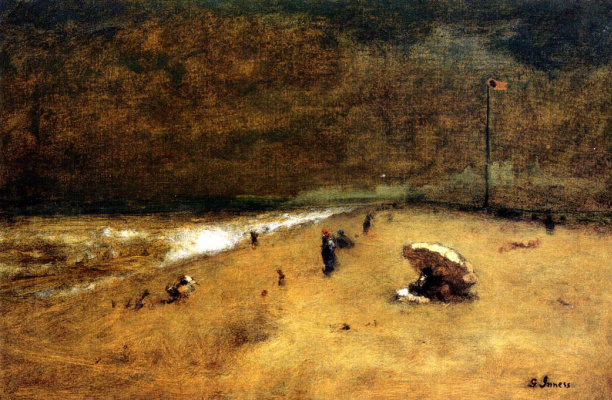 George Innes. Along the shore of Jersey