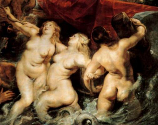 Peter Paul Rubens. The entry of Marie de Medici in Marseilles