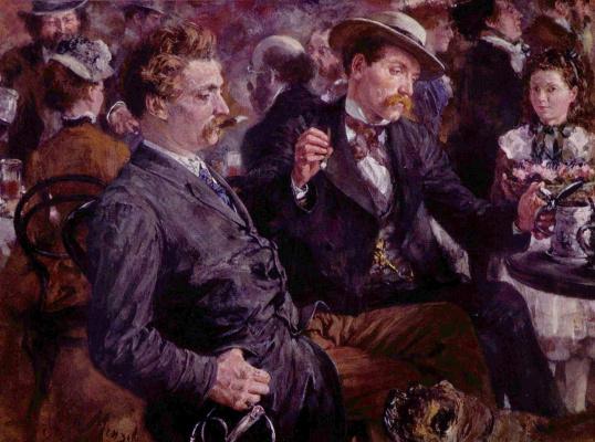 Adolf Friedrich Erdmann von Menzel. In the pub on the air