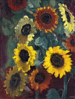 Emil Nolde. Sunflowers