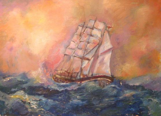 Pavel Markovich Osherov. Sailboat