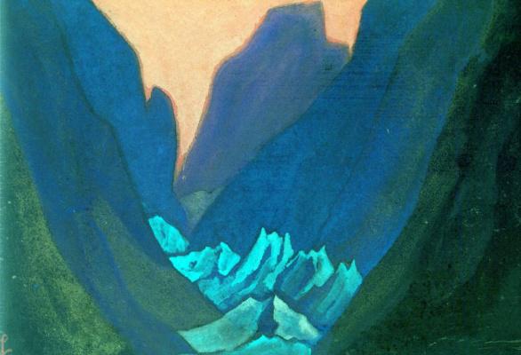 Nicholas Roerich. Glacier (Blue gorge)
