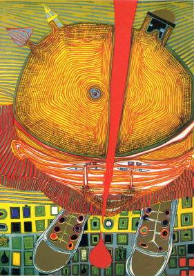 Friedensreich Hundertwasser. Boy with green hair