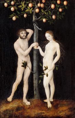 Lucas Cranach the Elder. Adam and eve