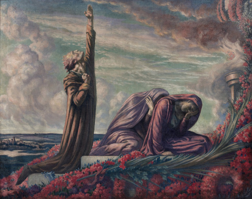 Jean Delville. At the Grave of the Martyrs