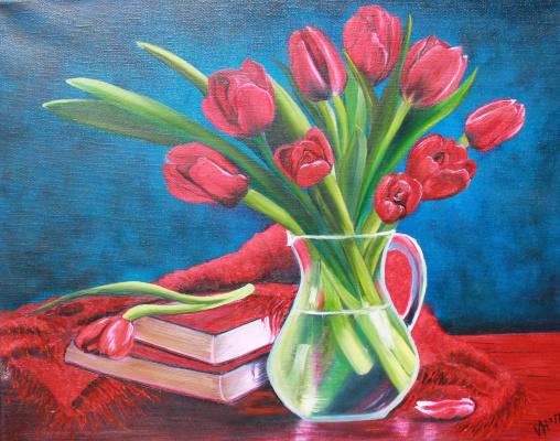 Vera Alexandrovna Kholmogorova. Bouquet of Tulips