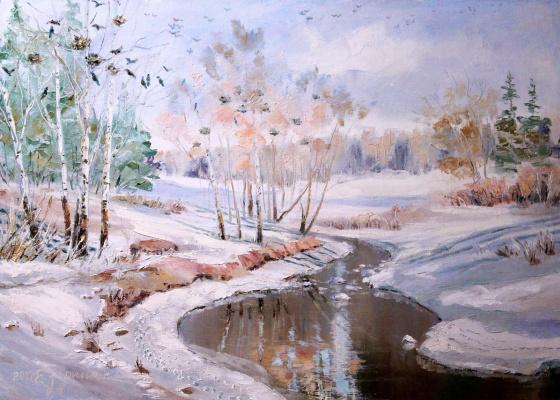 Elena Nikolaevna Zorina. Snow melts