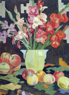 Alexander Alexandrovich Deineka. Gladiolus and apples