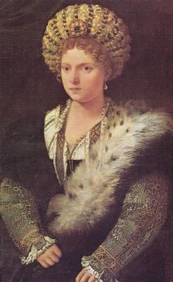 Тициан Вечеллио. Портрет Изабеллы д`Эсте
