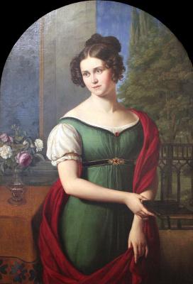Фридрих Вильгельм фон Шадов. Портрет Лили Парси ( Lili Parthey)