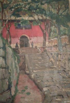 Виктор Степанович Подгурский. Остров Путу, монастырь. 1922 г.