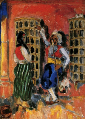 """Mikhail Larionov. Turk and Turk. From the cycle """"Imaginary Journey to Turkey"""""""