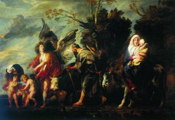 Jacob Jordaens. Escape to Egypt
