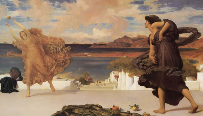 Frederic Leighton. Greek girls play ball
