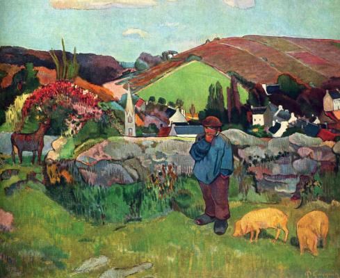 Поль Гоген. Свиное стадо, Бретань