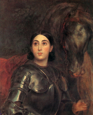 Karl Pavlovich Bryullov. Portrait of Juliet Tittoni in the form of Joan of Arc