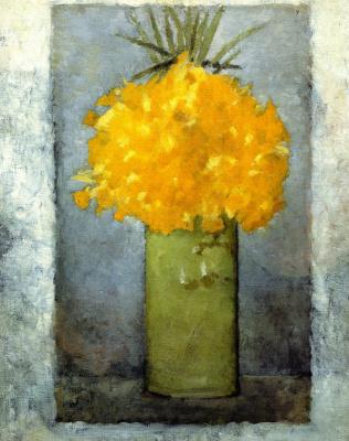 Пьер Боннар. Нарциссы в зеленой вазе