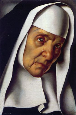Tamara Lempicka. The abbess