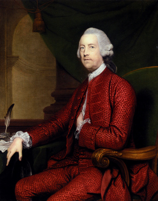 Joshua Reynolds. Portrait of John Simpson from Bradley Hall