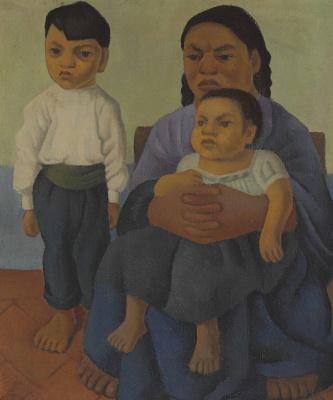 Диего Мария Ривера. Женщина с детьми