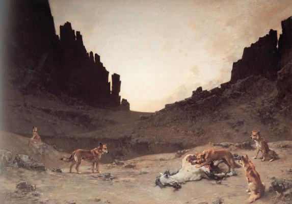 Гюстав Гуиллаумет. Собаки и мертвая лошадь