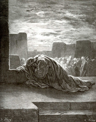 Paul Gustave Dore. Bible illustration: Ezra