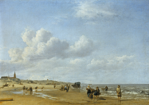 Adrian van de Velde. Seaside in Scheveningen