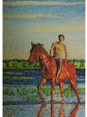 Виктория Соколик. Купание ещё одного красного коня