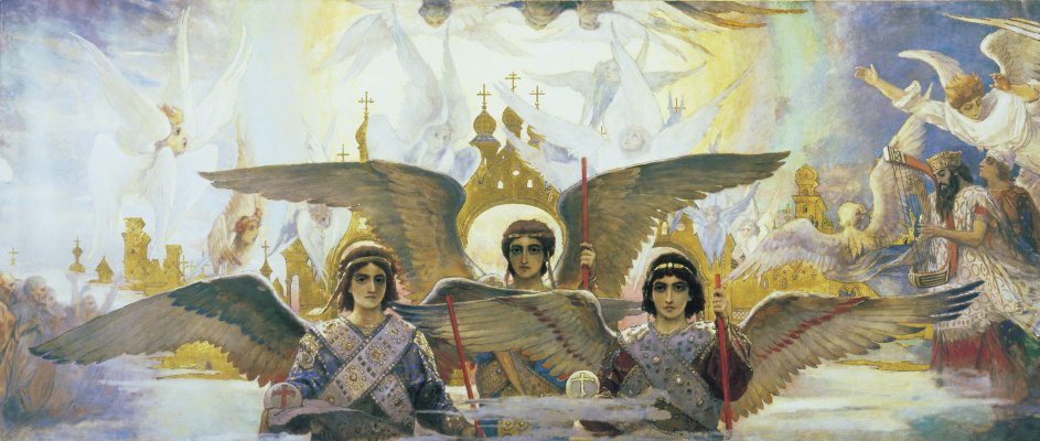 "Victor Mikhailovich Vasnetsov. Triptych ""the Joy of the righteous in the Lord. The threshold of Paradise"". The sketch for the painting of the Vladimir Cathedral in Kiev. Fragment (Central part)"
