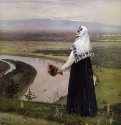 Mikhail Vasilyevich Nesterov. On the mountains