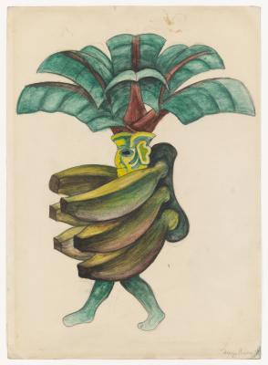 """Диего Мария Ривера. Бананы. Костюмы для балета """"Лошадиная сила"""""""