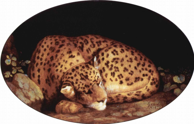 George Stubbs. Sleeping leopard