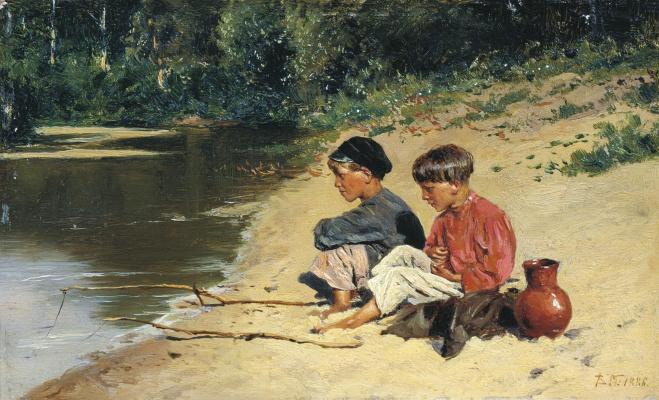 Vladimir Egorovich Makovsky. Fishermen
