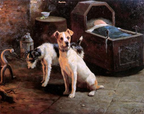 Альфред Дюк. Две собаки