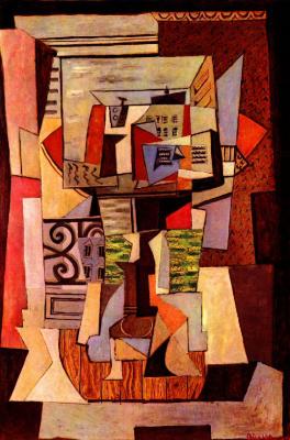 Pablo Picasso. Open window to the street Ponturi