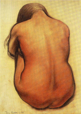 Diego Maria Rivera. Back of a naked girl