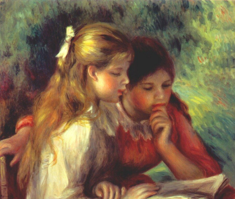 Pierre Auguste Renoir. A Reading (Lesson)