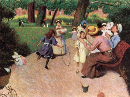 Federico Zandomenegi. Kids games in the Park Monceau