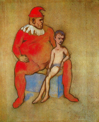 Pablo Picasso. Clown and young acrobat