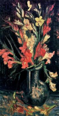 Vincent van Gogh. Vase with red gladioli
