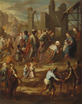 Николя Энрикес. Поклонение волхвов с вице-королём Педро де Кастро-и-Фигероа, герцогом Ла Конкистой
