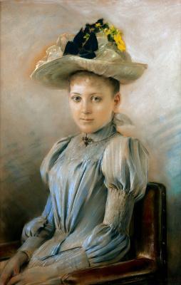 Эрнст Климт. Портрет жены художника, Хелен Климт (Флёге)