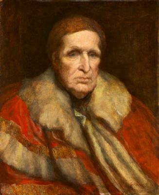 Джордж Фредерик Уоттс. Джон Синглтон Копли, барон Линдхерста, американский художник, работавший и умерший в Лондоне. 1862