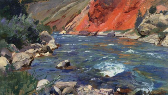 Alexey Vladimirovich Isupov. Landscape with a river.