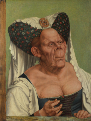 Quentin Masseys. The Ugly Duchess (Grotesque portrait of an old woman)