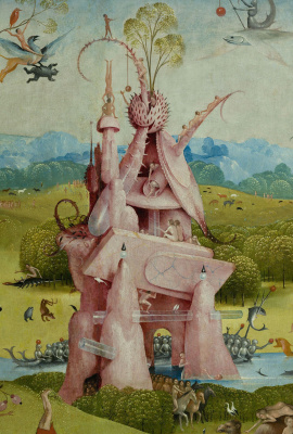 Hieronymus Bosch. The garden of earthly delights. The Central part. Fragment