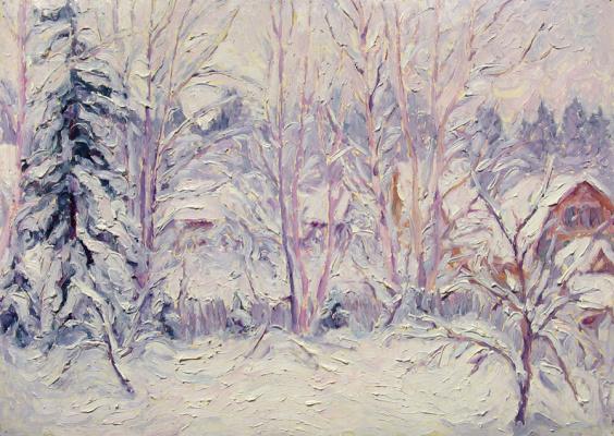 Alexey Vladimirovich Konstantinov. Snow-covered gardens