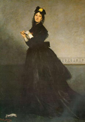 Carolus-Durand. Lady in black dress