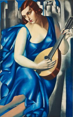 Tamara Lempicka. Woman with mandolin