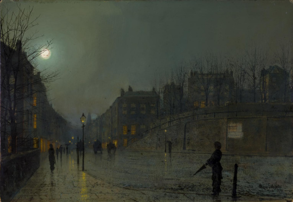 John Atkinson Grimshaw. Heath Street Night